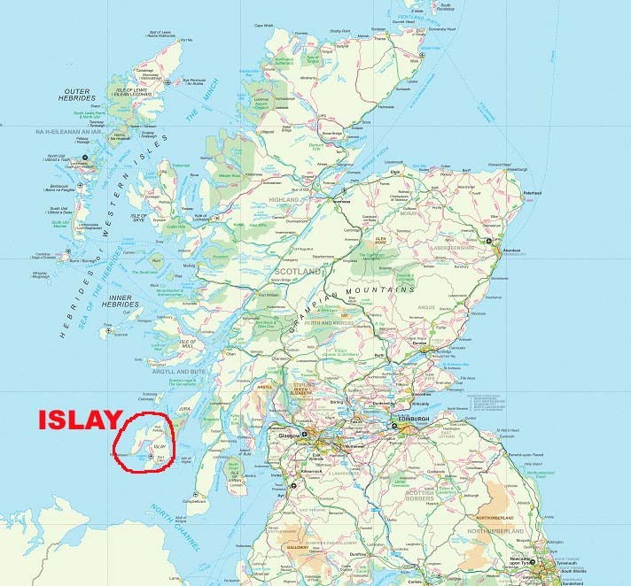 Islay Scotland Map.Wilderness Travels Recent Trips Early 2005